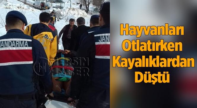 Mersin'de Kayalıklardan Düşen Gazi Asım Yaralandı
