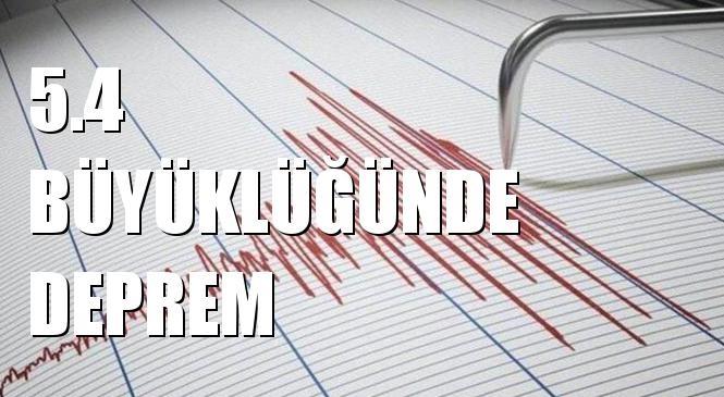 Merkez üssü AKDENIZ (Marmaris) olan 5.4 Büyüklüğünde Deprem Meydana Geldi