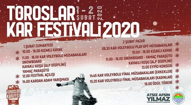 Toroslar'ın Kar Festivali Bu Hafta Sonu Yapılacak