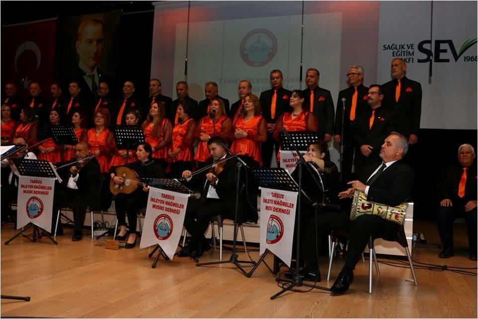 Tarsus İnleyen Nağmeler Musiki Derneği, Yılın İlk Konserini Verdi.