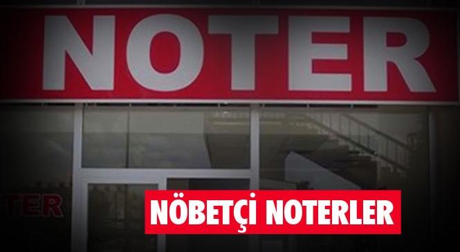 2 Şubat 2020 Pazar Günü Mersin Merkezi ve Tarsus İlçesindeki Nöbetçi Noterler
