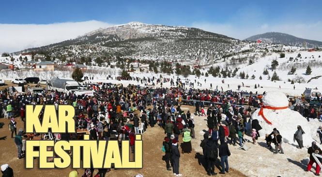 Mersin Kar Festivali! Toroslar Belediyesi Tarafından Arslanköy'de Düzenlenen Kar Festivalinin 1. Günü Coşkuyla Geçti