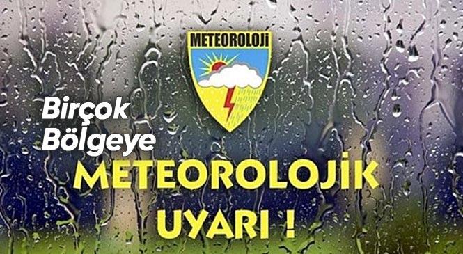 Mersin ve Adana Dahil Ülkenin Bir Çok Bölgesinde Çarşamba Gününden İtibaren Yer Yer Fırtına, Kuvvetli Sağanak Yağış, Soğuk Hava ve Kar Geliyor