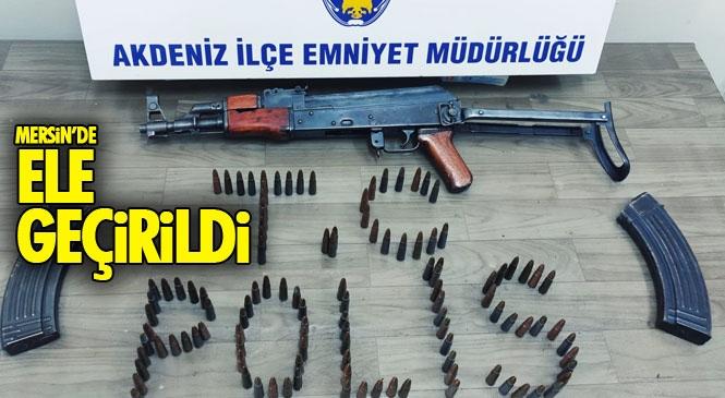 Mersin Gündoğdu Mahallesinde Yasa Dışı Silah ve Mühimmat Bulunduran Eve Operasyon!