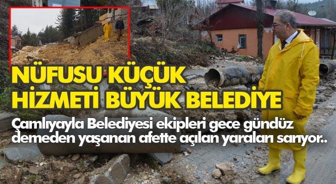 """Mersin Çamlıyayla 24 Saattir Ayakta """"Nüfusu Küçük Hizmeti Büyük Belediye"""""""