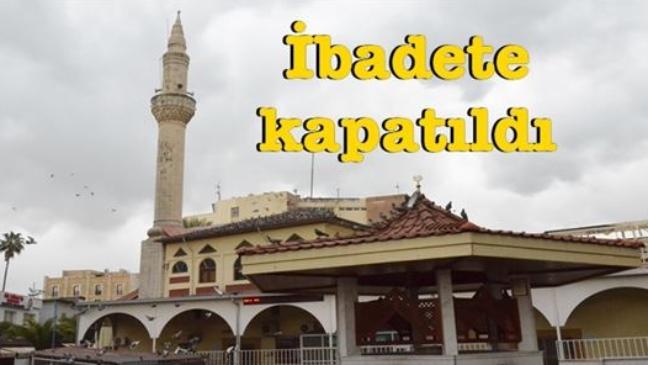 Mersin Tarsus'ta Kuşlu Camii Olarakta Bilinen Küçük Minare Camii'de Tadilat Nedeni İle İbadete Ara Verildi