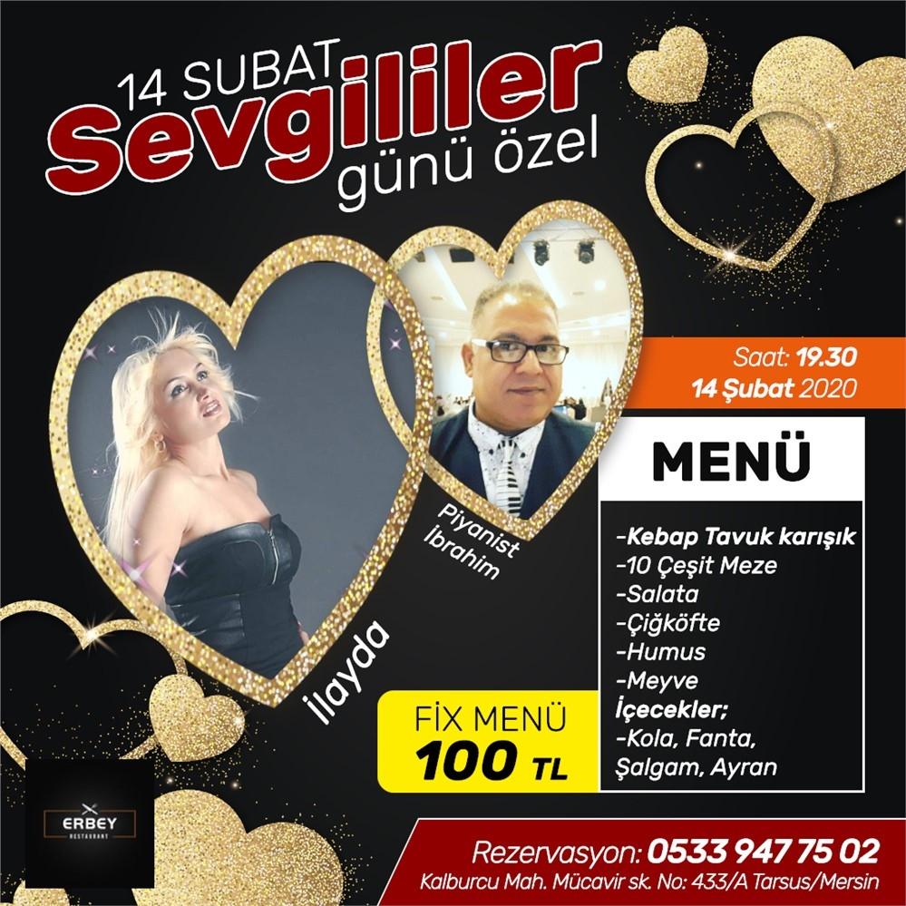 Mersin'de 14 Şubat Sevgililer Günü İçin En Çok Tercih Edilen Mekanları Mersinhaber.Com Sizler İçin Sıralayacak.