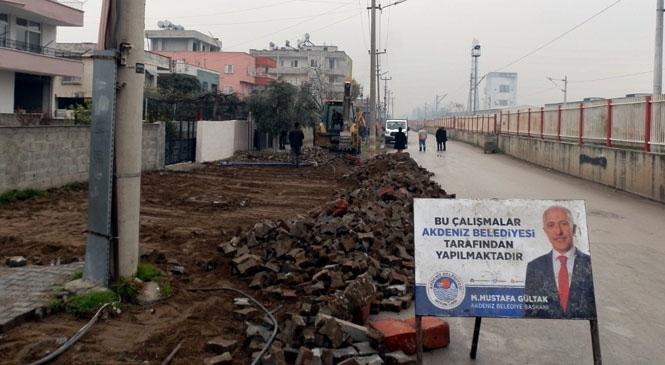 Mersin'in Akdeniz İlçesi Karacailyas Mahallesindeki Sokaklar Asfaltlanacak