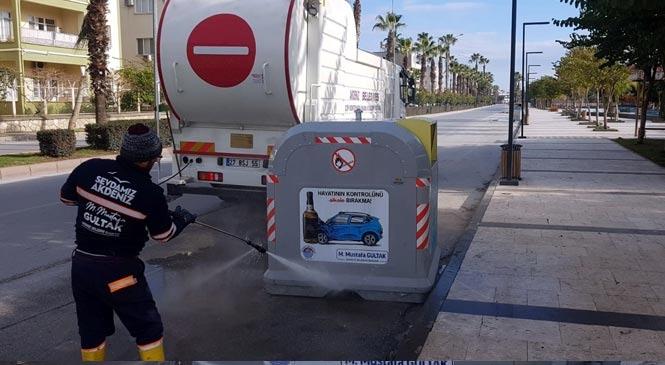 Akdeniz Belediyesi Çevre Koruma Müdürlüğü Ekipleri 7/24 Sahada Çalışıyor