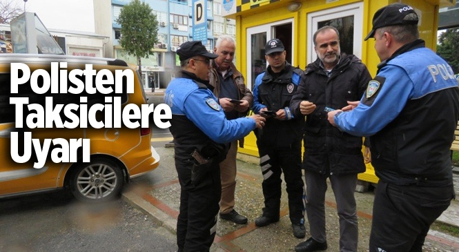Mersin Polisinden Taksicilere Dolandırıcılık Uyarısı