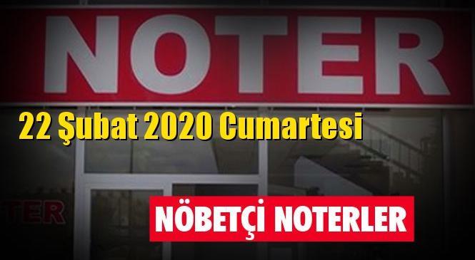 22 Şubat 2020 Cumartesi Günü Mersin ve Tarsus'taki Nöbetçi Noterler