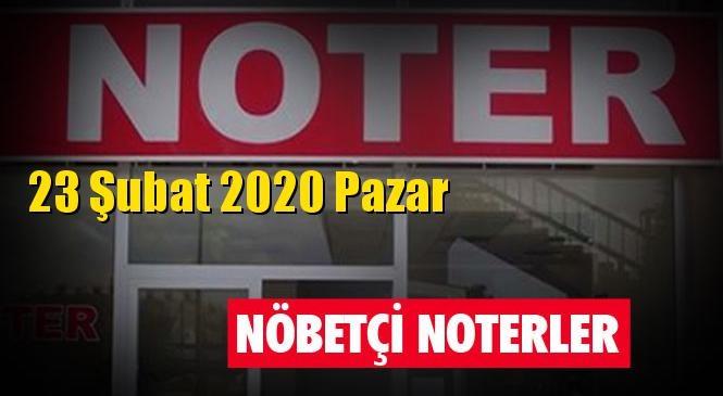 23 Şubat 2020 Pazar Günü Tarsus ve Mersin'deki Nöbetçi Noterler