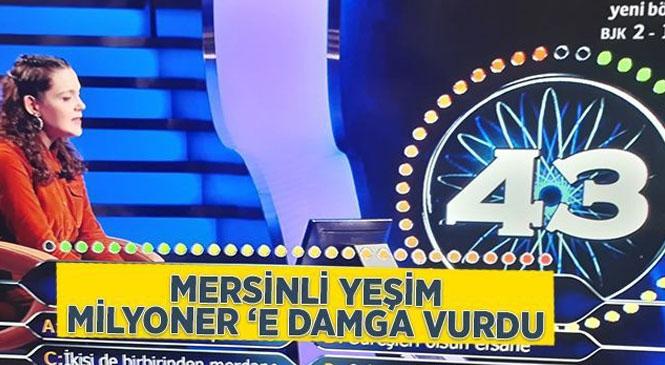 """""""Kim Milyoner Olmak İster""""e Katılan Mersinli Yeşim Çuvalcıoğlu Geceye Damga Vurdu"""