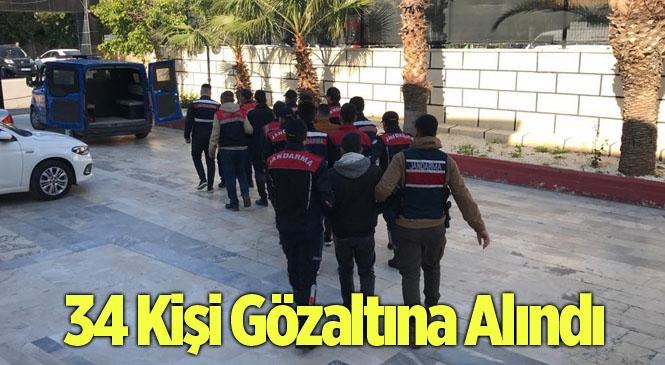 Mersin'de Uyuşturucu Operasyonunda 34 Kişi Gözaltına Alındı