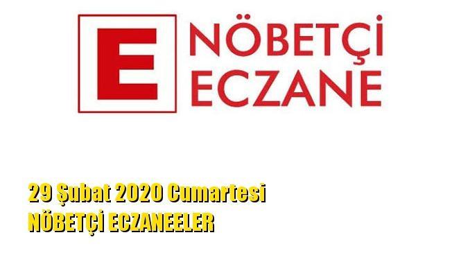 Mersin Nöbetçi Eczaneler 29 Şubat 2020 Cumartesi