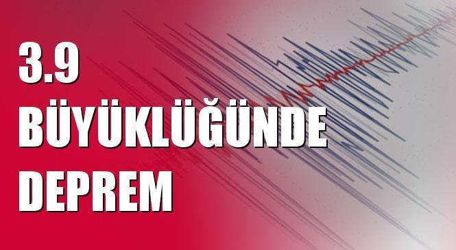Merkez üssü Örmeli - Pütürge (Malatya) olan 3.9 Büyüklüğünde Deprem Meydana Geldi