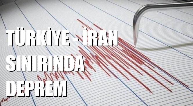 Merkez Üssü Türkiye - İran Sınır Bölgesi, Van Özalp - Saray Yakınları Olan 4.4 Büyüklüğünde Deprem Meydana Geldi