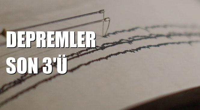 Ege Denizi, İran Sınırı ve Manisa'da Depremler