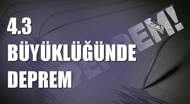 Merkez Üssü Akyarlar - Bodrum ( Muğla ) Olan 4.3 Büyüklüğünde Deprem Meydana Geldi