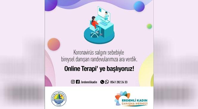 """Erdemli Belediyesi Kadın Danışma Merkezi """"Online Terapi"""" Başlatıyor"""
