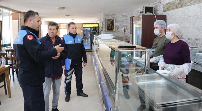 Erdemli Belediyesi Lokantalarda Maske ve Eldiven Kullanımını Yaygınlaştırıyor