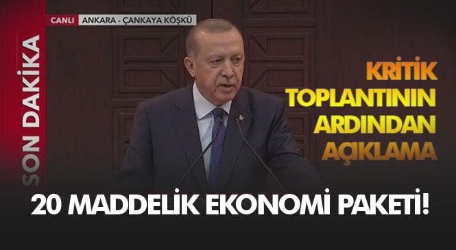 Cumhurbaşkanı Erdoğan, Ekonomik İstikrar Kalkanı Destek Paketini Oluşturan 21 Maddeyi Açıkladı! Çankaya'daki Zirvesinin Sonunda Açıklamalar