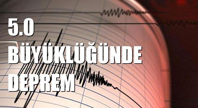 Merkez Üssü KALABA-SIVRICE (Elazığ) olan 5.0 Büyüklüğünde Deprem Meydana Geldi