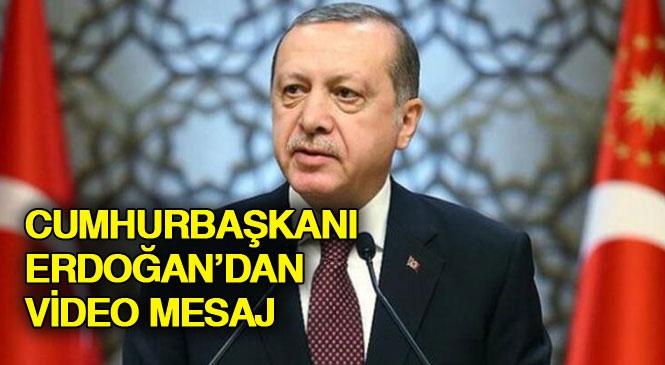 Cumhurbaşkanı Recep Tayyip Erdoğan'dan, Miraç Kandili Mesajı İçeren ve Koronavirüs (Covid-19) Konusundaki Tedbirlere Uyulması Uyarısını Yaptığı Video Mesaj