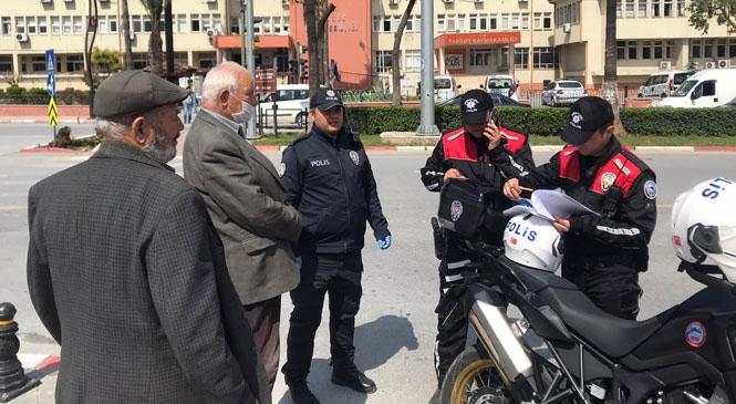Mersin Tarsus'ta Alınan Salgın Tedbirleri Kapsamındaki Yasağı Delen Yaşlılara 392 Lira Ceza