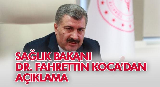 Sağlık Bakanı Dr. Fahrettin Koca Son Vaka ve Ölüm Sayısını Açıkladı: Koronadan Ölen Sayısı 37'ye Yükseldi