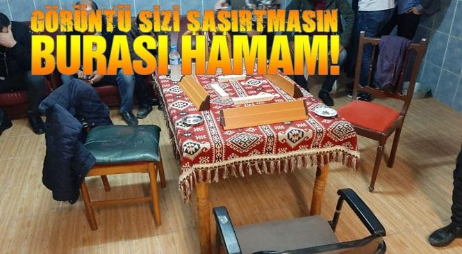 Mersin Tarsus'ta Koronavirüs Tedbirleri Kapsamında Kapanan Hamama Kumar Baskını: Kumar Oynarken Yakalandılar, 47 Bin 670 TL Ceza Kesildi
