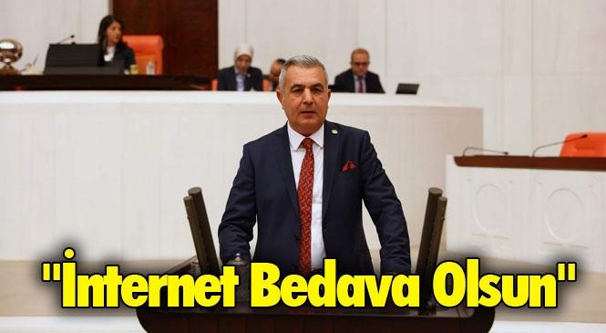 """TBMM Genel Kurulunda Söz Alan MHP Mersin Milletvekili Baki Şimşek """"İnternet Bedava Olsun"""""""