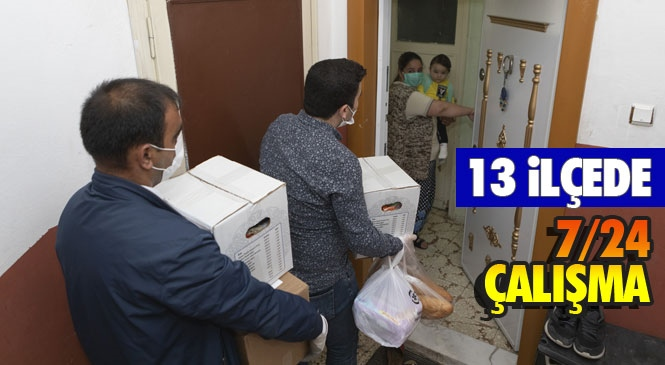 Mersin'de Koronavirüs Salgınıyla Mücadele Sürecinde Olduğu Gibi 2 Günlük Sokağa Çıkma Yasağı Sürecinde de Büyükşehir Belediyesi Tüm Ekipleriyle Seferber Oldu