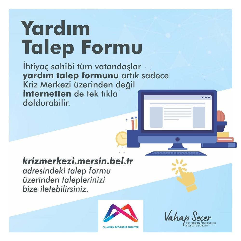 Yardım Talep Formu Aktif Edildi! Mersin Büyükşehir Belediyes