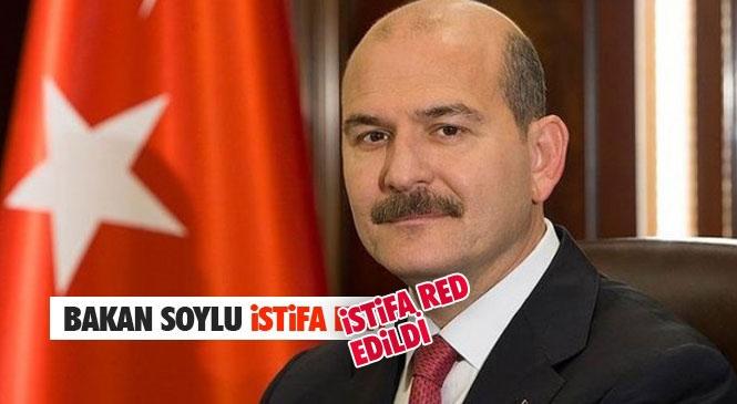 İçişleri Bakanı Süleyman Soylu İstifa Ettiğini Duyurdu (İstifa Kabul Edilmedi)! Soylu, 31 Ağustos 2016'da Efkan Ala'nın İstifa Etmesiyle Göreve Gelmişti