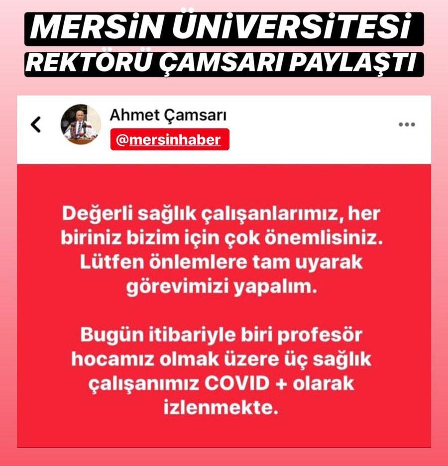 Mersin Üniversitesi Rektörü Çamsarı Akşam Saatlerinde Yaptığ