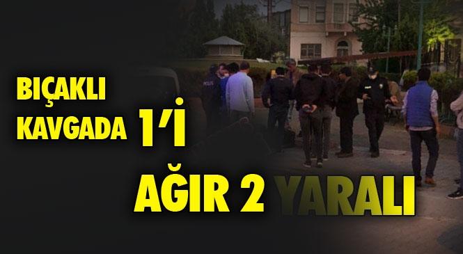 Tarsus Ulu Camii Önünde Meydana Gelen Bıçaklı Kavga Olayında 1'i Ağır 2 Kişi Yaralandı