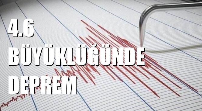 Merkez Üssü Akdeniz olan 4.6 Büyüklüğünde Deprem Meydana Geldi