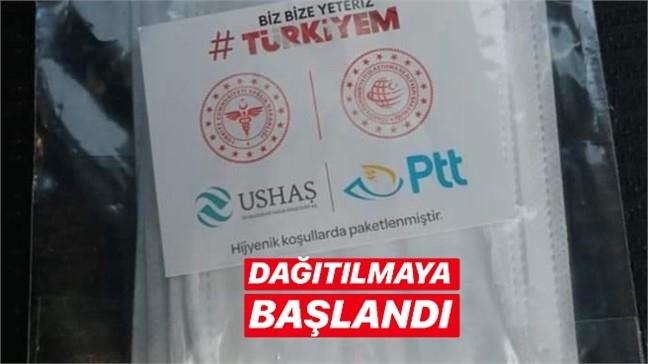 Mersin'de Ücretsiz Maskelerin Bir Kısmı PTT Tarafından Dağıtılmaya Başlandı