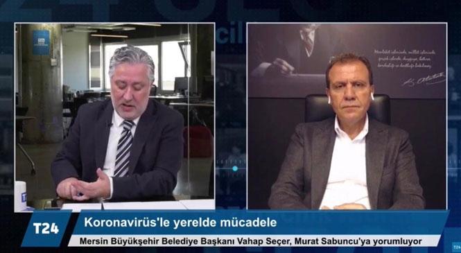"""Mersin Büyükşehir Belediye Başkanı Vahap Seçer, """"Belediye Meclisi Onay Verirse, Su Faturalarını 3 Ay Ertelemeyi Düşünüyoruz"""""""