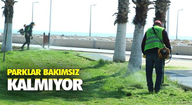 Kültür Park ve Atatürk Parkı, Düzenli Olarak Dezenfekte Ediliyor