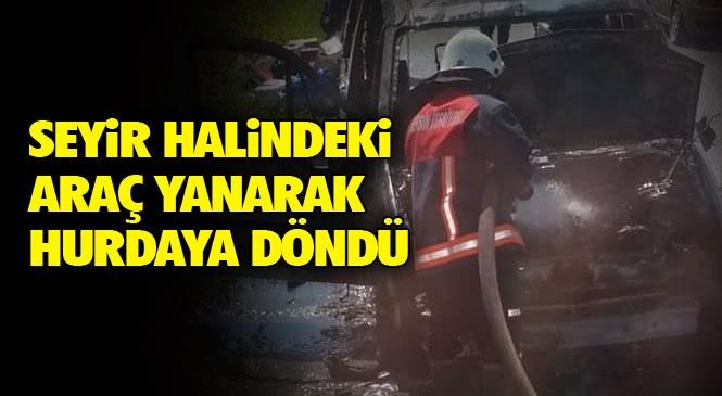 Mersin'in Tarsus İlçesi Yenice - Çiçekli Mahalleleri Arasındaki Yolda Öğle Saatlerinde Ticari Araç Yangını Meydana Geldi