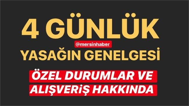 30 Büyükşehir ve Zonguldak İlinde 23-24-25-26 Nisan Tarihlerinde Uygulanacak Sokağa Çıkma Kısıtlaması