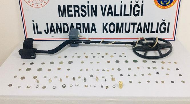 Karaman'dan Mersin'e Kargoyla Gelen Tarihi Sikke ve Tarihi Eserler Jandarmanın Operasyonu İle Ele Geçirildi