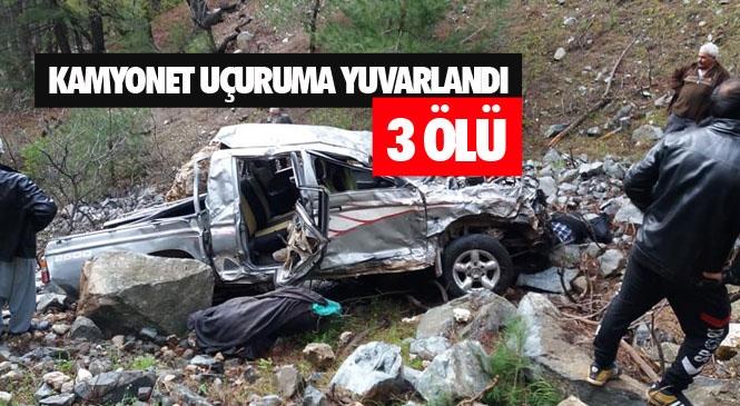 Mersin Erdemli'de Kamyonetin Uçuruma Yuvarlanması Sonucu Meydana Gelen Trafik Kazasında 3 Kişi Öldü