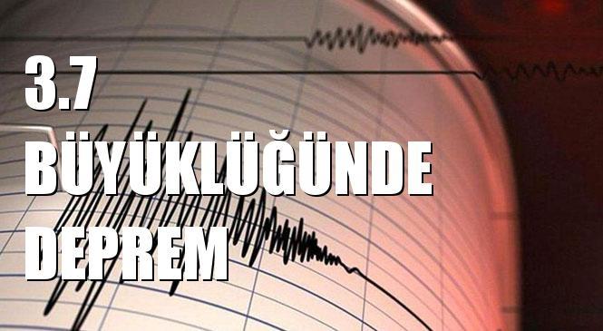 Merkez Üssü AHMETADIL-AKYURT (Ankara) olan 3.7 Büyüklüğünde Deprem Meydana Geldi