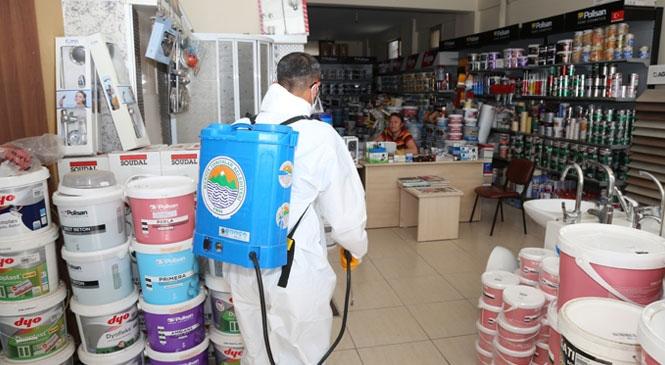 Toroslar'da Dezenfekte Seferberliği Devam Ediyor