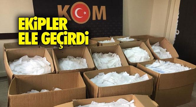 Mersin Tarsus'ta Tabelası Bulunmayan Tekstil Atölyesinde 70 Bin Maske Ele Geçirildi
