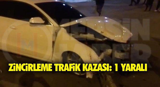 Mersin Tarsus Altaylılar (Ülküköy) Mahallesinde 3 Aracın Karıştığı Zincirleme Trafik Kazası Meydana Geldi: 1 Yaralı