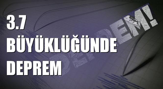 Merkez Üssü Ömerdağı - Başkale (Van) Olan 3.7 Büyüklüğünde Deprem Meydana Geldi
